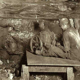 Drilling in Virginia, October 1908.